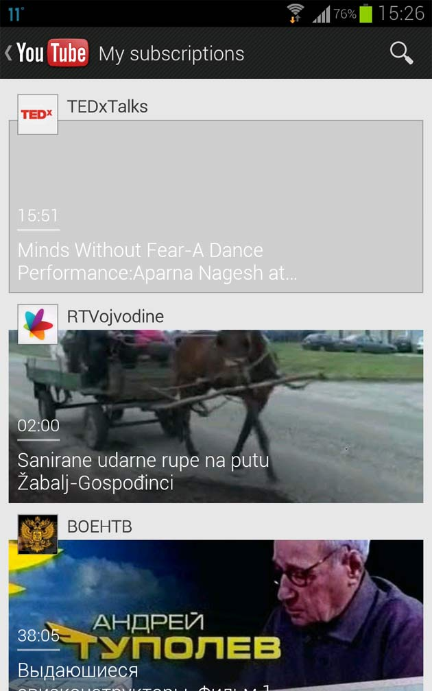 youtube-aplikacija