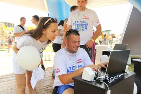 Lajkovanje HP Srbija FB strane na Red Bull Flugtagu