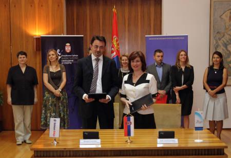 Predrag Culibrk i Alisa Maric potpisuju Sporazum o saradnji