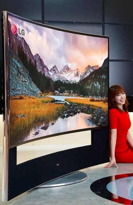 LG zakrivljeni Ultra HD televizor dijagonale 105 inča