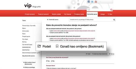 Vip korisnicki online servis