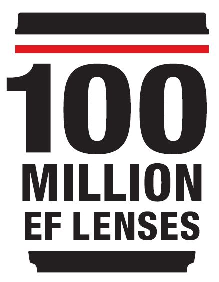 Canon EF 100 Million logo