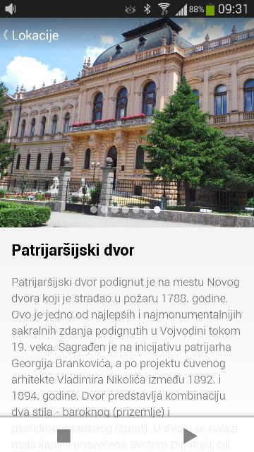 Patrijarsijski dvor novo Telekom Srbija predstavio rutu Sremski Karlovci u aplikaciji Novi Sad priča