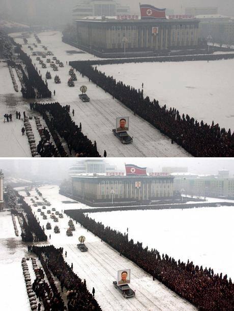 Manipulisane fotografije sa sahrane Kim Jong Ila, 28. 12.2011. Pjongjang