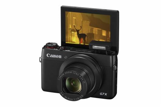 PowerShot G7 X FSL Flash Up LCD Up 180