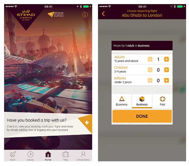 Etihad Ervejz aplikacija za Androide