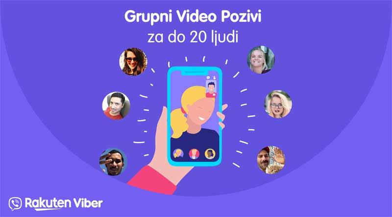 Grupni video pozivi u Viberu